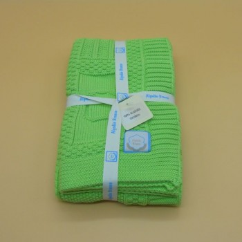 code 050012-VP- Baby throw blanket - pistacchio green