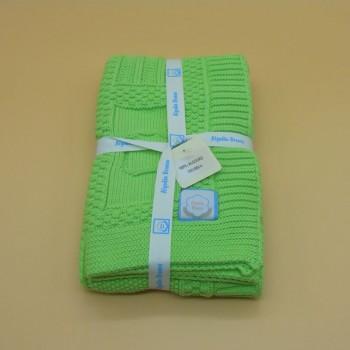 ref.050012-VP- Manta de bébé - verde pistacchio