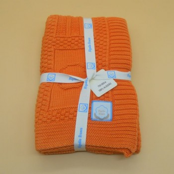 code 050012-LA- Baby throw blanket - orange