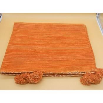 ref.050611-100x150- LA- Tapete 100x150 algodão  - laranja