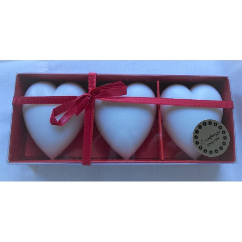 """ref.048016-Caixa de sabonetes """"Coração"""""""
