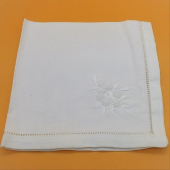 code 050478-BR-40x40 - Napkin - Flowers contour - set of  2