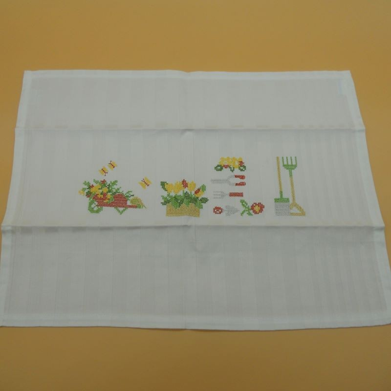 """code 050431 - Table mat with embroidery - Jardim/""""Garden""""- set of 2"""
