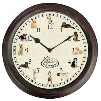 code DCT-TF016 - Dog sounds wall clock