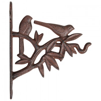 code DCT-BR03 - Cast iron basket hanging hook - 2 Birds on the branch