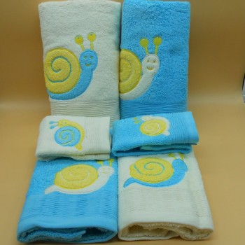 code 050215-6PC-AM-AZ - Bathtowel set (6Pc) - Snail