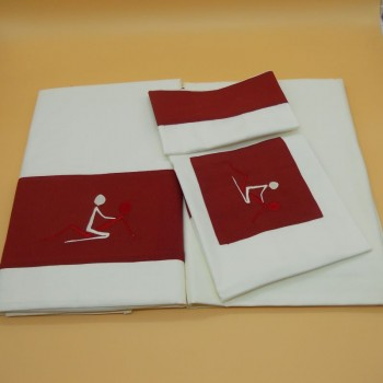 code 050219-180x290-BJ-EB-Kamasutra 0 bed sheet set 180x290 - bordeaux