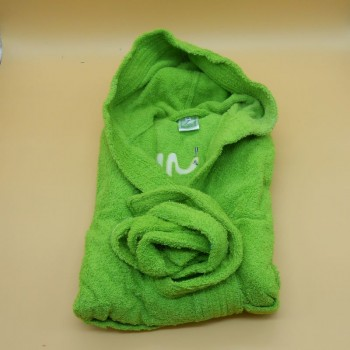"code 050832-VP-6A - Hooded Bathrobe -  ""Cobra""/""Snake"" -  Pistacchio green  - 6 years"