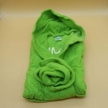 """ref.050832-VP-14A - Roupão de banho com capuz -  """"Cobra"""" - Verde pistacchio"""
