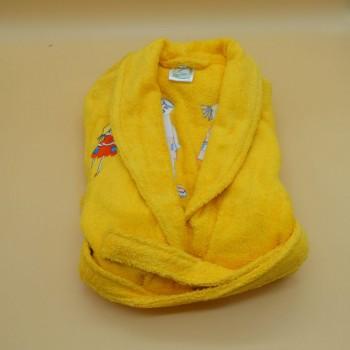 """code 050833-AM-6A-Shawl Bathrobe -  """"Par""""/""""Pair"""" - Yellow - 6 years"""