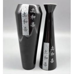code 040009- Adam and Eve pair of jars - black