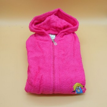 "code 050831-RP-12A-Hooded Bathrobe -  ""Menina""/""Girl"" -  Pink"