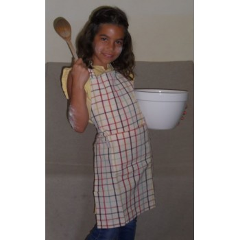 code 050419/20-N5 - Apron and matching child apron set - Rudolph/Clown - child apron