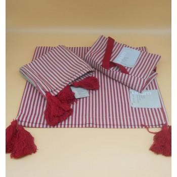 refs. Moon D90 - corredor de mesa, avental e capa de almofada - comparação de cores
