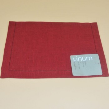 code 050410-D90 - Table mat - Invit - Rouge - set of 2