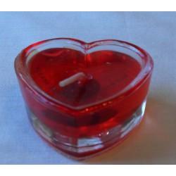 ref.049011- Vela em gel forma de coração