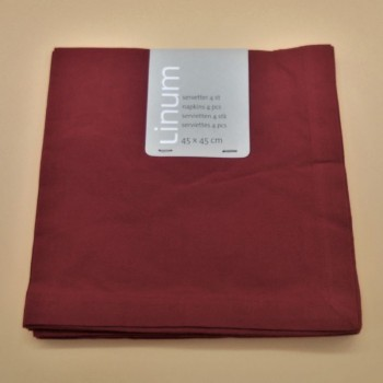 code 050421-D86 - Napkin - Robert - Rouge Sang - set of 4