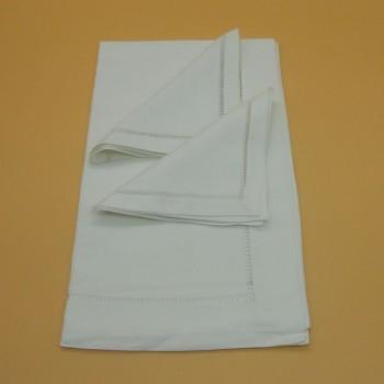 ref.050471-BR-50x170/40x40-2- Conjunto de corredor com 2 guardanapos - Branco