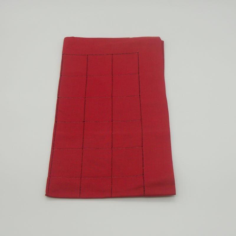 code 050467-ES-50X170 - Squared tablerunner - Blood Red