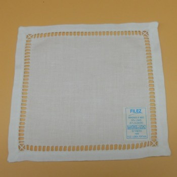 code 050471-BR-15X15 - Hemstitch cocktail napkin - White - set of 4