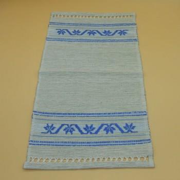 ref.050481 - Hand loom tray cloth - Blue Palm Tree