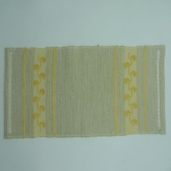 code 050480 - Hand loom tray cloth - Yellow Clover Embroidery
