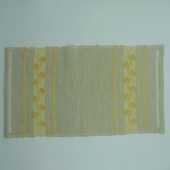 ref.050480 - Pano de tabuleiro de tear manual - Trevo Amarelo