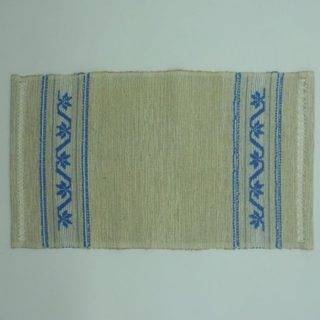 ref.050481 - Hand loom tray cloth - Blue Palm Tree