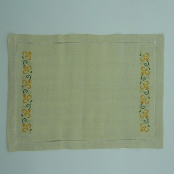 code 050486 - Tray cloth - Yellow/Green Tulip Cross Stitch