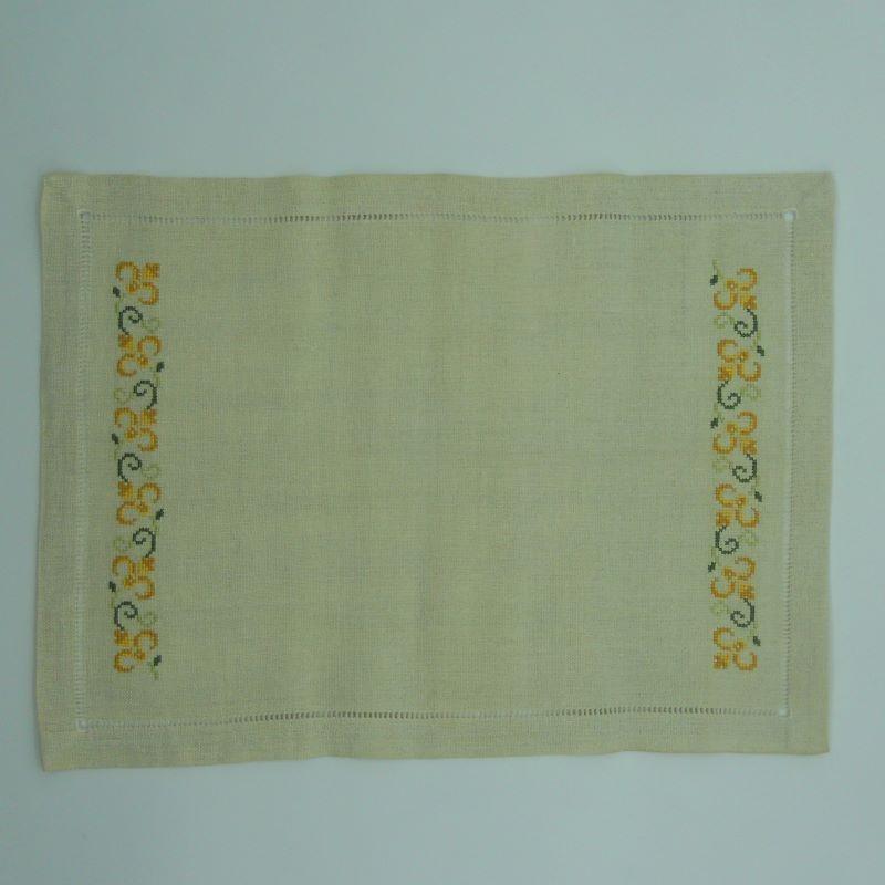 code 050486 - Tray cloth - Yellow/Green Tulip Cross Stitch