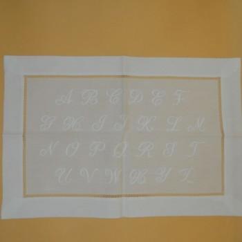 code 050476-BR - Cloth tray - abecedary