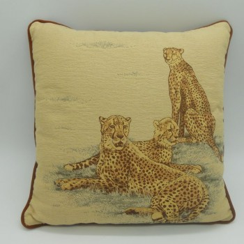 code 050629-34X34 - Cushion - Leopards - 34x34 cm - front