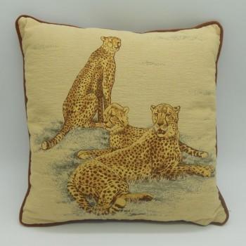 ref.050629-30x30 - Almofada leopardos - 30x30 cm - frente