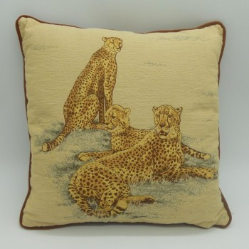 code 050629-30x30 - Cushion - Leopards - 30x30 cm - front