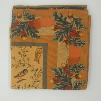 ref.050625-147X147CM - Toalha de mesa decorativa - Floresta