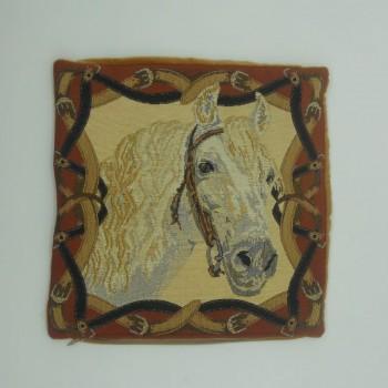 "ref.050619-36X36CM - Cushion cover - ""Cavalo Branco""/""White Horse"""