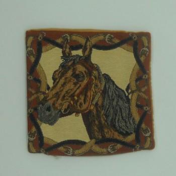 "code 050620-25X25CM - Cushion cover - ""Cavalo Castanho""/""Brown Horse"""