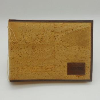 ref.071204 - Album de fotografias em pele de cortiça e pele