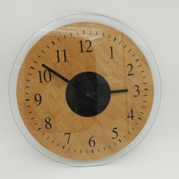 code 071211 - Cork leather wall clock
