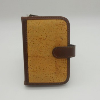 ref.071814-CAPA - Capa para organizador pessoal em pele de cortiça e pele - Filofax A6