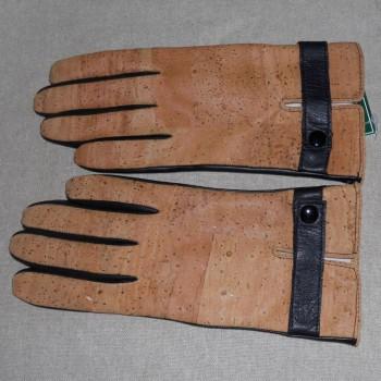 code 071819-7 - Cork leather anda black leather women's gloves  -  nº 7