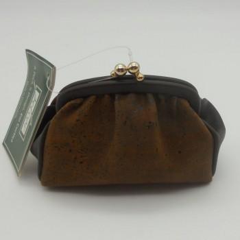 ref.071816 - Porta moedas em pele de cortiça - noir
