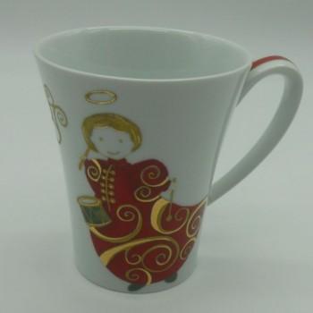 ref.615786EV-AJS- Caneca - Anjos Gold Christmas - vermelha