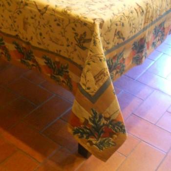ref.050625-147X147CM- Toalha de mesa decorativa - Floresta