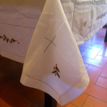 "code 050479-BR-170X250 - Christmas table towel - Azevinho/""Holly"""