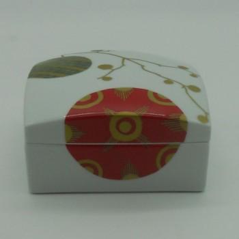 ref.615766D - Caixa quadrada Gold Christmas