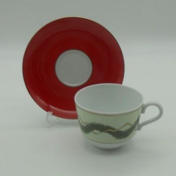 ref.150007 - Chávena de chá com pires - Noël - conjunto de 2