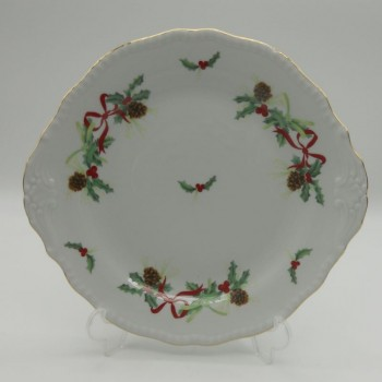 code 150085 - Cake plate- Christmas Holly