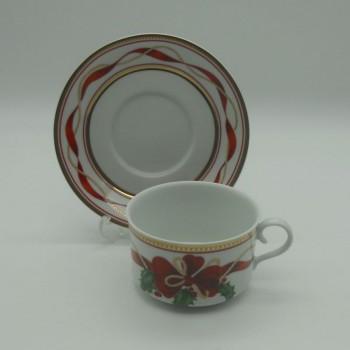 ref.615707 - Chávena de chá com pires - Holiday Splendour - conjunto de 2