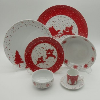 code 615550/02/03/08/78/80-2P- Dinner set for 2P -  Jingle Bell
